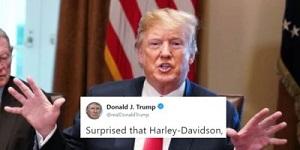 Trump Harley Tweet